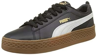 PUMA 彪马女鞋 Smash 松糕鞋 L 低帮运动鞋 Black (Puma Black-puma White) 5 UK