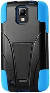 Reiko Silicon Case/Protector Cover for Samsung Galaxy S4 - Non-Retail Packaging - Navy/Black