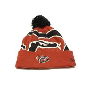 亚利桑那 Dimondbacks 编织大口袋翻边羊毛针织帽/无檐小便帽