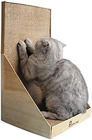 "Pawmosa 猫抓手,垂直纸板猫抓板,休闲床作为家具保护,家居装饰 包括免费 Catnip 蜂蜜色 12.6"" x 12&quo"