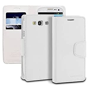 Galaxy S3 Case, ModeBlu Wallet Case ID Credit Card Cash Slots Premium Synthetic Leather [Stand View] for Samsung Galaxy S3 经典白色