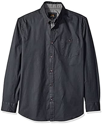 LEE 男式 Brady 衬衫  黑檀木色 2X Tall