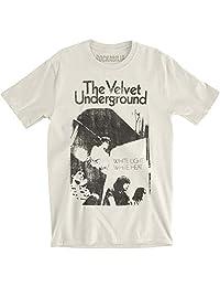Velvet Underground 男式白色光/白色热修身款 T 恤复古