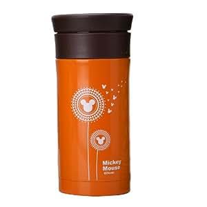 Disney 迪士尼 不锈钢时尚蒲公英米奇头随手杯 办公杯 茶隔杯350ml DDS-6017AB橙色