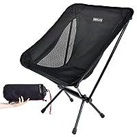 BOBVILLAGE 超輕折疊野營椅,Cordura 面料,便攜式緊湊草坪凳,適用于海灘旅游遠足野餐節和所有戶外活動