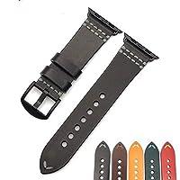 意大利皮革表带 Apple Watch 苹果手表 兼容系列 4/3/2/1,5 种颜色TRAPL38BLK 38mm/40mm 黑色