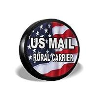 MSGUIDE 美国邮政乡村运输车备用轮胎罩防风雨轮胎保护套适用于吉普拖车房车 SUV 卡车和许多车辆(14 英寸 15 英寸 16 英寸 17 英寸)