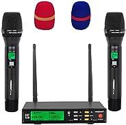 FREEBOSS FB-U58 派对 DJ 卡拉 OK UHF 多频双向 2 金属手持无线麦克风...