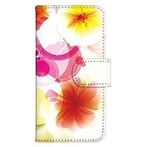 智能手机壳 手册式 对应全部机型 印刷手册 wn-533top 套 手册 花朵图案 UV印刷 壳WN-PR023714-S AQUOS PHONE SERIE mini SHL24 B款
