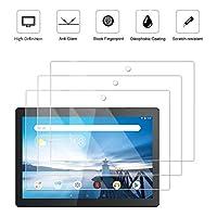 3 件装哑光防眩光屏幕保护膜适用于联想 Tab M10 / Smart Tab M10 (10.1 英寸),防眩光和防指纹(哑光)保护膜