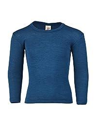 儿童长袖保暖衬衫:打底衫或睡衣上衣,*美利奴羊毛丝绸,尺码 2-13 岁