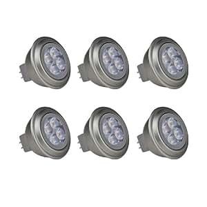retop 锐拓 照明正品 插脚MR16灯杯LED 射灯12V光源 3W RG-MR0360 六只装