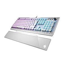 Roccat Vulcan 122 - Mechanische Gaming Tastatur, AIMO LED Einzeltastenbeleuchtung, Titan Switches, Aluminiumoberfläche, Multimedia-Tasten, Handballenauflage, Tactile Switch, Weiß