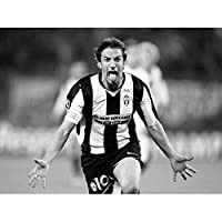 Doppelganger33 LTD 运动橄榄球 Alessandro Del Piero Juventus Striker 意大利大号带框印刷品 无边框 18 x 24 Inch LV11154