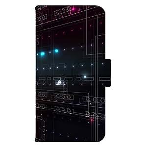 智能手机壳 手册式 对应全部机型 印刷手册 wn-022top 套 手册 SF图案 近未来 技术 数码 底盘 UV印刷 壳WN-PR054343-ML AQUOS SH-M02 图案C
