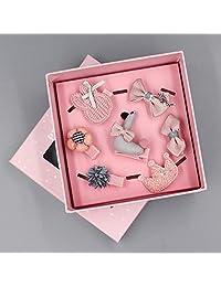 Naturhand 南禾 韩国宝宝发卡 头饰 女公主发绳 婴幼儿全包布发夹礼盒 儿童发饰套装 多款可选