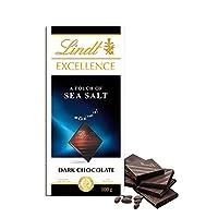 Lindt瑞士莲特醇排装海盐味黑巧克力100g (德国进口)