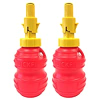 Bigtoolrack QuickFILL 18盎司便携式燃油瓶,适用于链锯、修剪器、边缘、割草机和两个循环发动机 [ 2 件装)