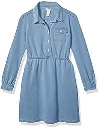 Amazon Brand - 斑点斑马女孩幼童和儿童针织牛仔连衣裙