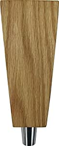 "Tapered 6.5"" Solid Red Oak Tap Handle"