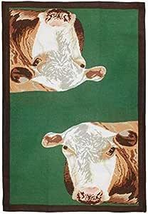 动物餐具毛巾,2 件装 Hereford Cow