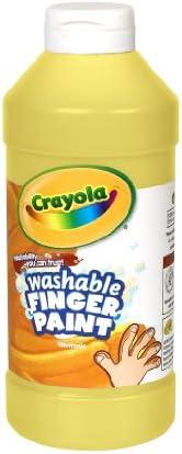 Crayola 绘儿乐 可洗手指绘画颜料,挤压瓶 32 盎司 (约946.2ml) 夸脱 黄色