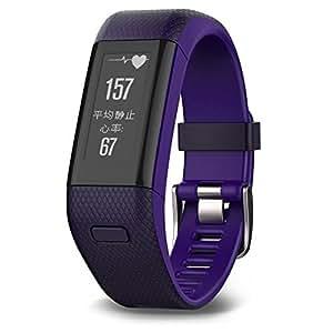 Garmin 佳明 vivosmart HR+ 紫色GPS智能手环心率实时监测自动睡眠监测活动侦测来电提醒运动蓝牙手表