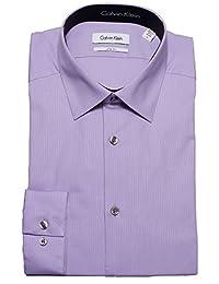 Calvin Klein 色调/色调条纹修身100% 棉质衬衫–33t046
