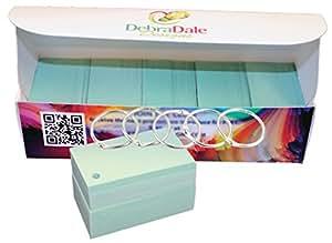 Debra Dale 设计 - 闪存卡 - 8.89 x 5.08 cm - 一盒 1,000 张 - 超重 140# 索引卡库存 - 253 GSM - 0.0118 厚 PunchedGreen