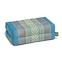 Kapok Dreams 冥想垫子和瑜伽道具,35.56x22.86cm(超宽! ),* 天然 Kapok 填充物(蓝色)。