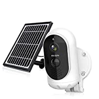 EKEN 户外*摄像头 无线 太阳能*摄像头 1080P 视频 夜视运动检测 双向通话 APP 远程 IP65防水 附32GB SD 卡 无月费