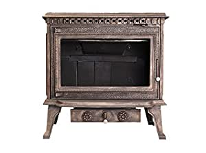 Owens 欧文斯 经典独立式真火壁炉 亚瑟王 古铜色 wood-burning fireplace
