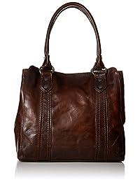 FRYE Melissa 手提皮革手提包 深棕色 单一尺寸