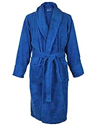 Bare Cotton 4000-0103 * 土耳其棉男士厚绒披肩长袍 皇家蓝 小号/中号 4000-1003-02