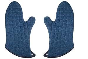 Now Designs Superior Oven Mitt, Denim Stone Wash, Set of 2