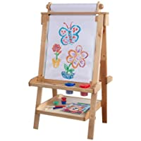 KidKraft Deluxe Wood Easel - Natural 双面可升降木质画板-原木色