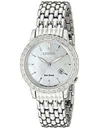 Citizen Eco-Drive Mother of Pearl Stainless Steel Ladies Watch EW2280-58D