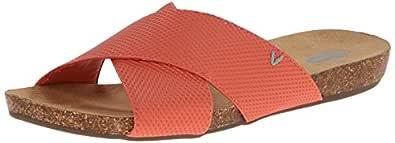 Dr. Scholl's 女式 Rae 防水台凉鞋 珊瑚色 9.5 M US