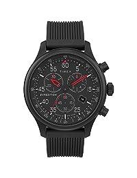 Timex 男TW4B207009J  Analog 硅胶 黑色 TW4B207009J watches