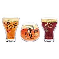 东洋佐佐木玻璃 啤*杯套装 透明 约28×12.3×12.3cm 啤*杯套装 (绿绿・香味・橡木) 日本制造 可用洗碗机 G071-T261 3个装