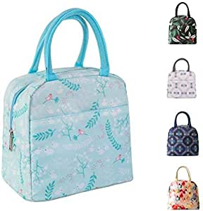Moosoo Thicker Insulated Lunch Bag Reusable Durable Handy Portable Thermal Lunch Tote Lunch Box Cooler Bag Lunch Organizer for Work School Outdoor Picnic BBQ 浅绿