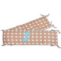 Baby Boum 28 x 340厘米棉花丰富的厚超长围栏和床套(Gimik Giraffe 系列,Azur)
