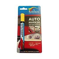 AUTO Writer Marker 汽车车身面板和挡风玻璃的可拆卸涂料 黄色 5mm A81102