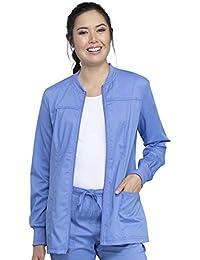 Cherokee Workwear 革命科技前拉链热身磨砂外套  Ciel 蓝色 XX-Large