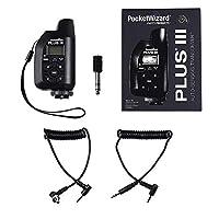 PocketWizard Plus IIIe 无线电触发器,增强远程摄影和摄像机闪光的范围和可靠性(黑色)