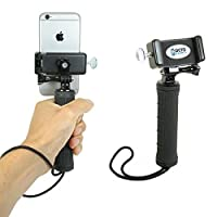 OCTO MOUNT 手持稳定器适用于手机或 GoPro 相机。 兼容 iPhone、Samsung Galaxy、HTC 等。