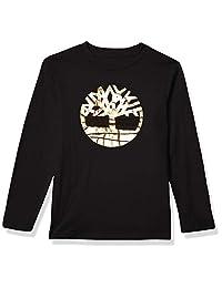 Timberland 添柏岚 男孩长袖图形标志 T 恤