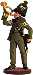 拿破仑战争锡兵金属雕塑微型收藏模型54毫米(比例1/32) 颜色 Nap-51