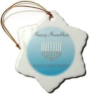3drose BEVERLY TURNER hanukkah 设计–HAPPY hanukkah , Stars OF David 和烛台–饰品