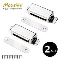 Mousike 磁性门夹 重型不锈钢壁橱夹 带强磁性 橱柜磁铁